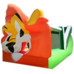 Brinca Brinca con Tobogán Caída Por Dentro 7x4 Con Figura