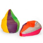 Puffs Tipo Pera Multicolor